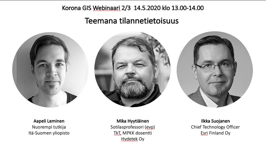 Korona GIS Webinaari 2/3 14.5.2020 klo 13-14.00